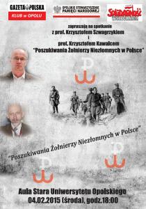 Krzysztof Szwagrzyk w Opolu 04-02-2015