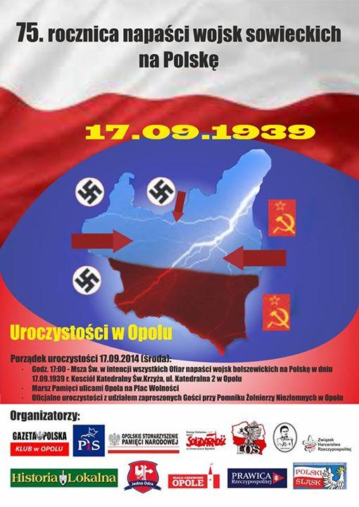 Rocznica agresji sowieckiej na Polskę: Opole 17-09-2014