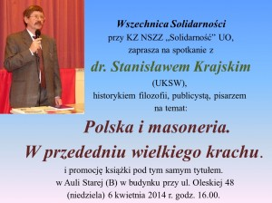 Stanisław Krajski w Opolu 06-04-2014
