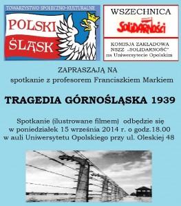 Tragedia górnośląska 1939 - wykład w Opolu 15-09-2014